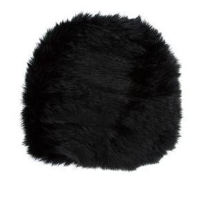 C/FAN black rabbit fur woven hat